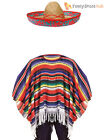 Mexican Poncho Fancy Dress Costume Sombrero Party Bandit Adult Western Outfit <br/> Poncho + Sombrero/Cigar/Moustache or all 4 for £14.25!