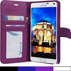 for Samsung Galaxy Note 4 (N910) - Luxury PU Leather Wallet Case Hard Flip Cover