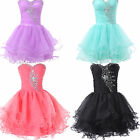 2015 CHEAP Evening Party Ball Masquerade Bridesmaid Homecoming Voile Short Dress