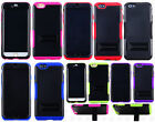 For Apple iPhone 6 Plus 5.5 Hybrid Silicone Rubber Skin Case KickStand Cover