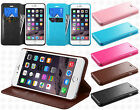 Apple iPhone 6 Plus 5.5 Premium Wallet Case Flap STAND Cover +Screen Protector