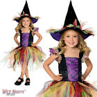 HALLOWEEN FANCY DRESS GIRLS GLITTER WITCH COSTUME