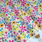 per 1/2 metre/fat quarter floral bouquet Ivory fabric 100% cotton