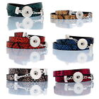 1PC Snap Bracelet Fit Snap Button Snakeskin PU Leather 60cm