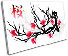 Japan Cherry Blossom Floral SINGLE CANVAS WALL ART Picture Print VA