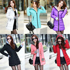 Women's fall and winter clothes padded down jacket Slim Long coat Outerwear