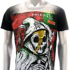 m151b Minute Mirth T-shirt Sz M Tattoo Skull Grim Ghost Men Tee Tattoos Black