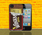 WONKA BAR CHARLIE AND THE CHOCOLATE PHONE CASE IPHONE 4 5 5S 5C GALAXY S3 S4 S5