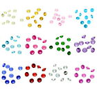 50PCs Floating Charms Embellishment Fit Living Locket Round Birthstone 5mm