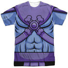 Masters of the Universe Action Cartoon Skeletor Costume Adult Front Print TShirt