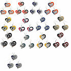 swirl heart necklace earring set charm NFL PICK YOUR TEAM