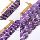 10X14/12X15/13X18MM OVAL SHAPE PURPLE AMETHYST LOOSE GEMSTONE BEADS STRAND 15""