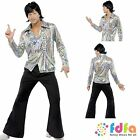 "1970s PSYCHEDELIC RETRO GUY FLARES - sizes 38""-48"" chest - mens fancy dress"