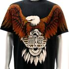r27 Rock Eagle T-shirt Tattoo SPECIAL Skull Motorcycle Biker Eagle Freedom