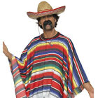 Adult Mexican Fancy Dress Costume Outfit New Bandit Mexicain Stag Party Hat Tash