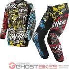 ONEAL ELEMENT 2015 WILD MULTICOLOURED ENDURO OFF ROAD DIRT BIKE MX MOTOCROSS KIT