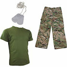Kids Pack 4 HMTC MTP MultiCam Pack Military Army Children's Dog Tags Fancy Dress