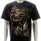 r156 Rock Eagle T-shirt Tattoo Skull Glow in Dark Soldier Police Ghost Grim King