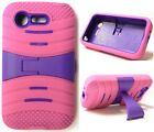 HOT PINK & PURPLE U-Case Hybird Cover for LG Optimus Fuel L34C / Zone 2 VS415PP