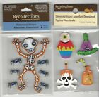 """U CHOOSE  Recollections SKELETON PARTY FAVORS 3D Stickers 2-1/2""""X3-1/2"""""""