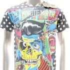 m264 Minute Mirth T-shirt Sz M Tattoo Classic Skull Ghost Zombie Walker Present