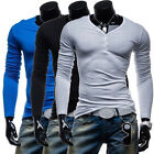 BIG SALE SUPER CHEAP MEN'S SLIM FIT LONG SLEEVE T-SHIRT CASUAL SHIRTS WINTER HOT