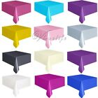"""Plastic Tablecovers Table Cover Cloths Rectangle 54"""" X 108"""" Patry Decorations"""