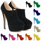 HIGH HEELS PLATFORM WOMENS COURT CASUAL ANKLE PUMPS BOOTS SHOES SIZE US 4-11