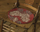 """Pinecone Hooked Chairpad with Ties by Park Designs, 14.5"""" , Choose 1 or Set, NWT"""