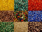 40g x 3mm GLASS SEED BEADS SILVER LINED BLUE RED GREEN PURPLE YELLOW CLEAR BROWN
