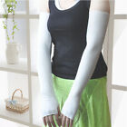 Popular Womens Girls Sunscreen Cotton Long Fingerless UV Gloves Party Gift UK EW