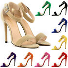 2015 NEW WOMENS FAUX VELVET PROM PARTY HIGH HEELS PUMPS SHOES SANDALS SIZE 2-9