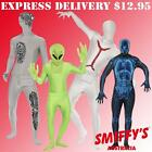 SECOND SKIN SUITS/ZENTAI FULL BODY LYCRA HALLOWEEN SMIFFYS FANCY DRESS COSTUMES