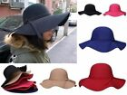 Elegant Ladies Women's Floppy Derby Wide Large Brim Cloche Fedora Hat Beach Cap
