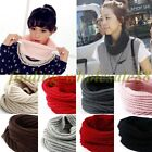 Latest Women Winter Warm Infinity Circle Cable Knit Cowl Neck Long Scarf Shawl
