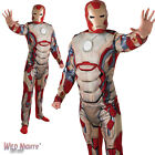 "FANCY DRESS COSTUME ~ ADULT MENS MARVEL IRON MAN 3 DELUXE SIZES 36""-50"" CHEST"