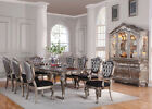 Formal Collection Dining Set Silver French Elegant Extension Table Chairs Dining