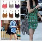 CHIC Celebrity Tassel Leather Fringe Shoulder Messenger Handbag Cross Body Bag