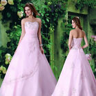 CLEARANCE❤❤ STRAPLESS LONG Bridal Gown Wedding Dress Custom Size 6 8 10 12 14 16