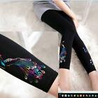 Spandex Footless Pants Peacock Semi-Opaque Leggings Sexy Hosiery Capri Punk Rock