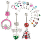 ferido dangly belly bar navel ring button body piercing 9FQJ-PICK STYLES&COLOUR