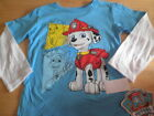 New Paw Patrol Boys Toddler Marshall Dog Blue T shirt Long Sleeve size 3T 4T 5T