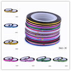 Unique 30Colors Striping Tape Line DIY Nail Art Decoration Sticker Decals Beauty