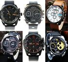 Mens Watches SBA Oversize Stainless Steel Alloy Leather Sport Wrist Watch GIFT