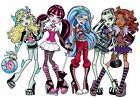 """7-10"""" MONSTER HIGH GROUP  CHARACTER WALL SAFE STICKER BORDER CUT OUT"""