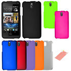 FOR HTC Desire 610 Solid Hard Cover Case Accessory w/ Screen Protector