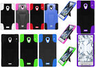 For Sharp Aquos Crystal Advanced KICK STAND Rubber Case Phone Cover Accessory