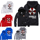 NEW Unisex Resident Evil Umbrella Corporation Hoodie Sweater Cosplay Jacket Coat