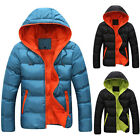 Xmas Warm  Mens Thick WINTER JACKET Hooded Down Coats Hoodie College Boy Outwear