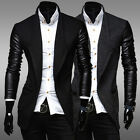 Korean Men Fashion Coats Winter Jacket Business Outwear Single Breasted Overcoat